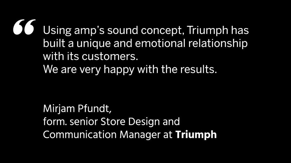 Triumph / amp sound branding / audio branding / branded music