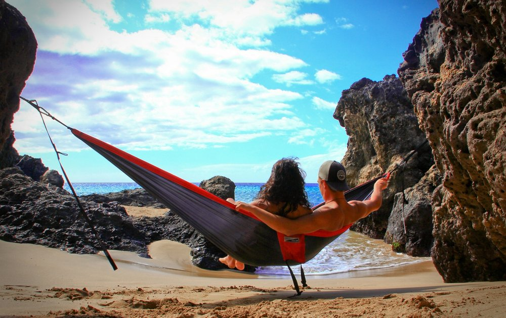 Hammocks - The DoubleNest reigns supreme. It's our bread-and-butter. It's your all-access pass to relaxation. Big enough for two and palatial for one, the DoubleNest still manages to stuff easily into its attached compression sack. Take it anywhere, set it up in seconds flat, lay back and #Relax