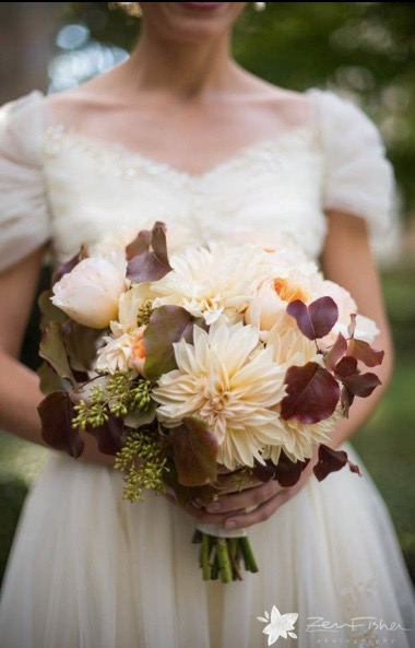 seasonal brides bouquet