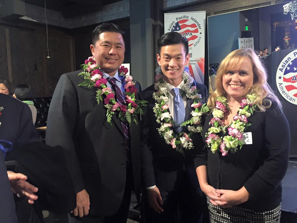 Charlotte Danielsson with Assemblymember Evan Low