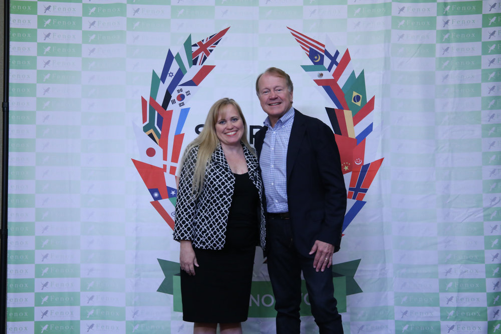 Charlotte Danielsson at a Meet & Greet with John Chambers, former CEO of Cisco