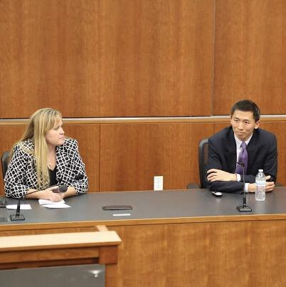 Charlotte Danielsson organized an event with California Supreme Court Justice Goodwin Liu and participated in a Q&A with him.