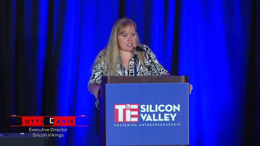 Charlotte Danielsson speaking at TieInflect 2018 Conference
