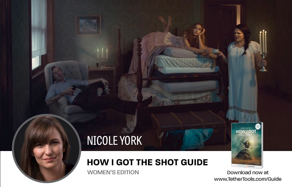 - See the behind the scenes of The Princess and the Pea in the annual Tethertools How I Got the Shot guide where Nicole was featured.