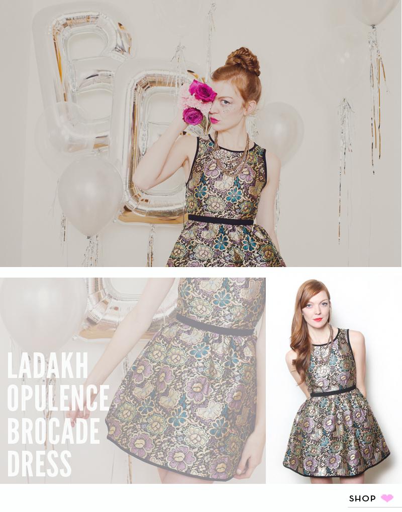 Ladakh Opulence Brocade Dress