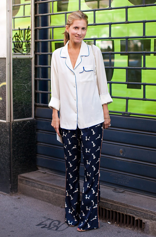 STOCKLHOLM-STREET-STYLE-SILK-PJ-PAJAMA-PRINT-PANTS-TOP-LINED-RAG-AND-BONE-MARINA-LARROUDE