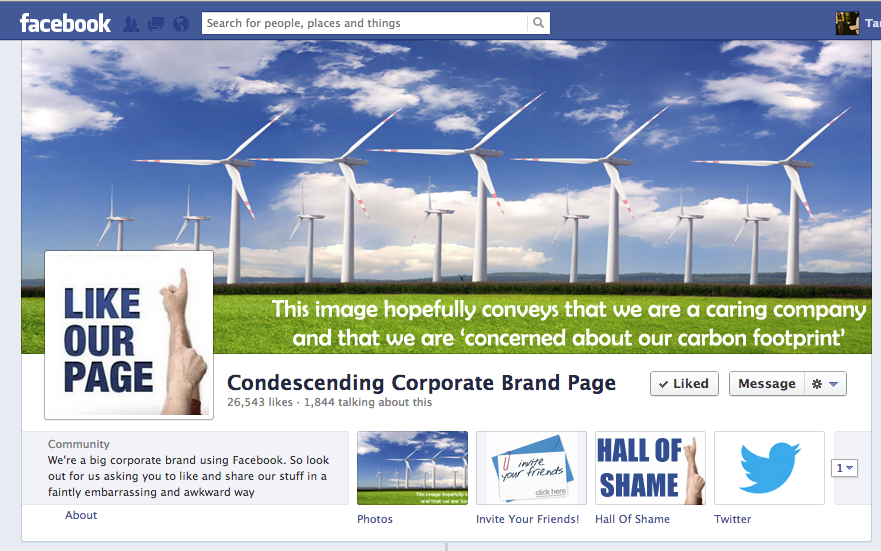 Corporate Bullocks on Facebook