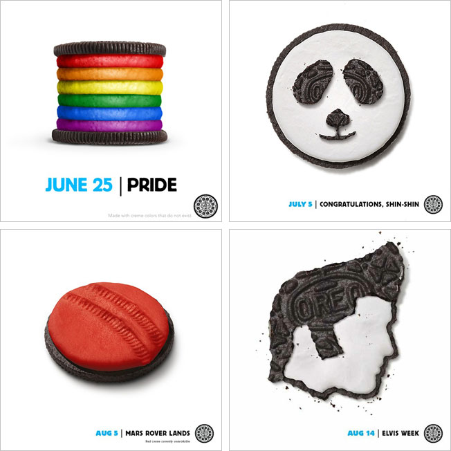Some of the popular Oreo campaigns where they dress up the cookie to represent cultural celebrations.