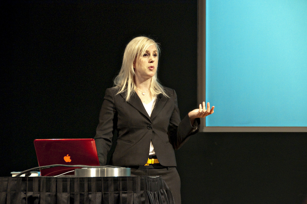 Tara speaking at An Event Apart in Seattle, USA.