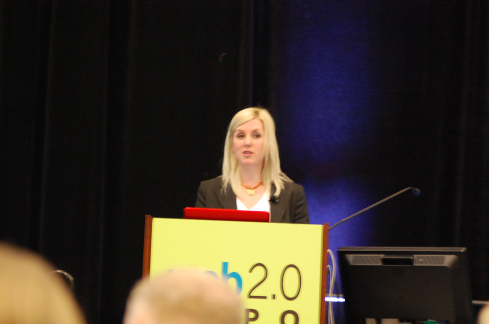 Tara speaking at Web 2.0 Expo in New York, USA.