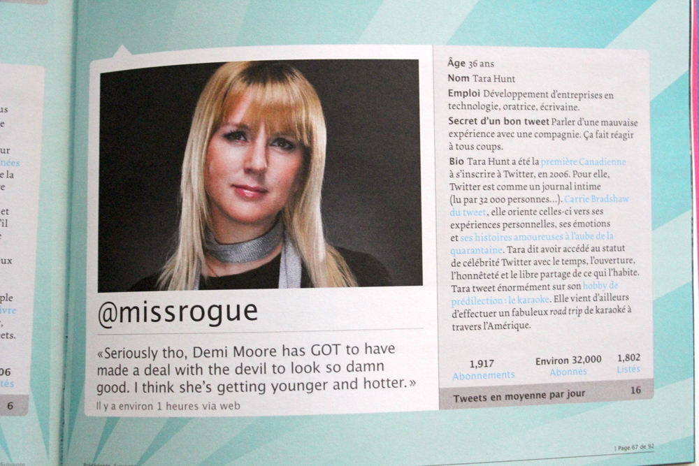 Comparison to Carrie Bradshaw in Montreal's Urbania magazine.