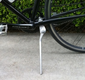Kickstand attached to bike if there is not one.