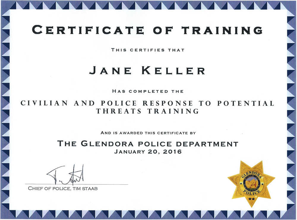 Cert of Training Glendora PD Jane.jpg