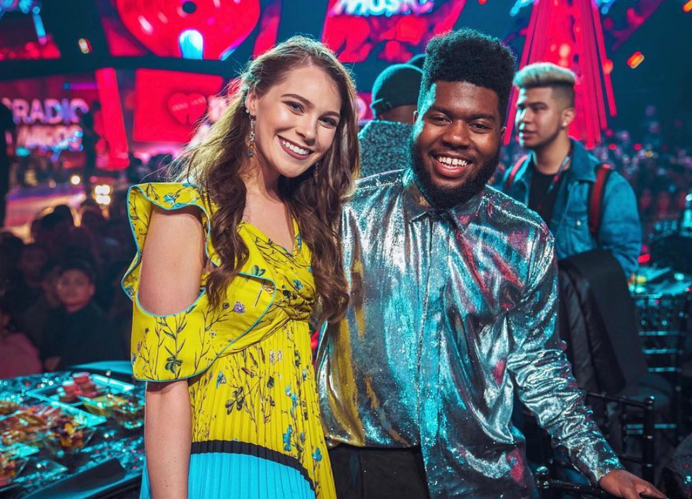 Loved being at the iHeartradio awards last night and meeting the one and only  @thegr8khalid !!