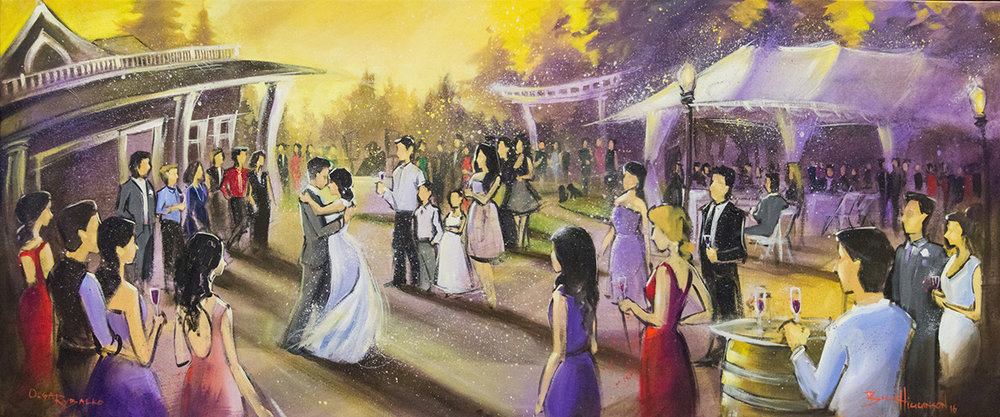 Seattle Live Art, Wedding Painting by Impressions Live Art