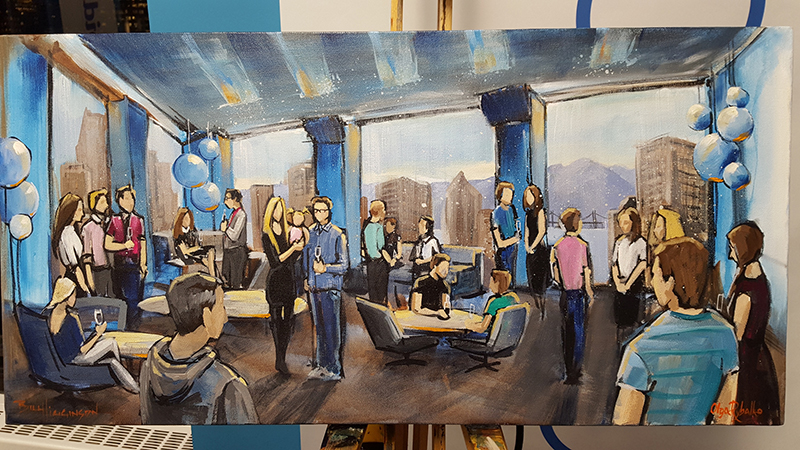 unique event entertainment - impressions live art painting match and plentyoffish