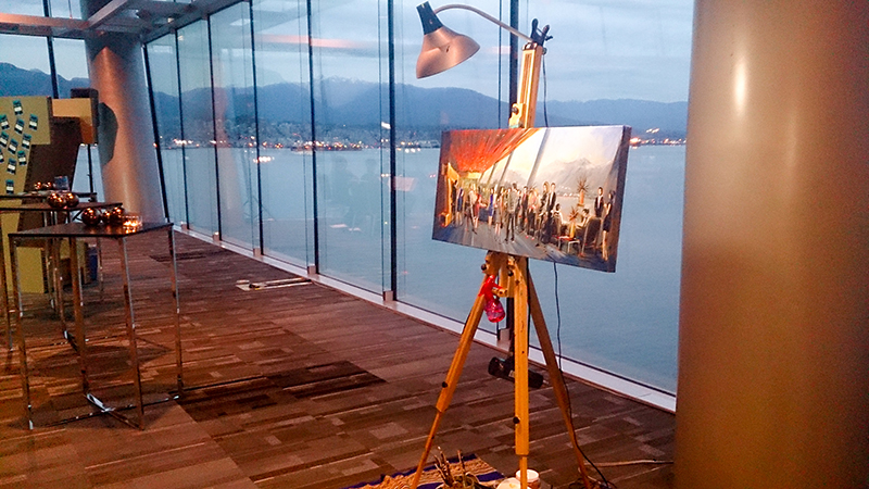 unique event entertainment - impressions live art painting vancouver convention center