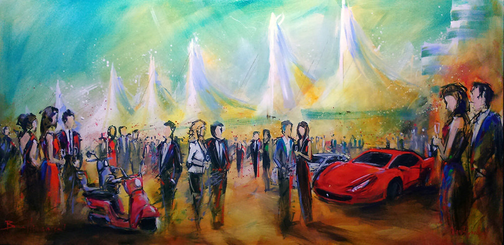 unique event entertainment - live painting for international auto show 2015, impressions live art