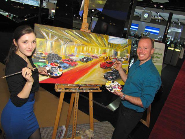 unique event entertainment - live painting for international auto show 2013, impressions live art