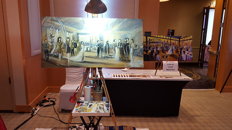 wedding entertainment, live painting, impressions live art