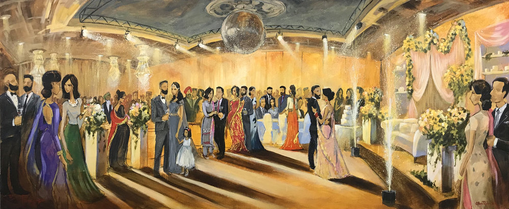 impressions+live+art+wedding+painting-indian-wedding