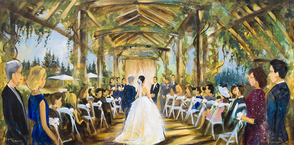 wedding painting at ubc botanical gardens live art entertainment