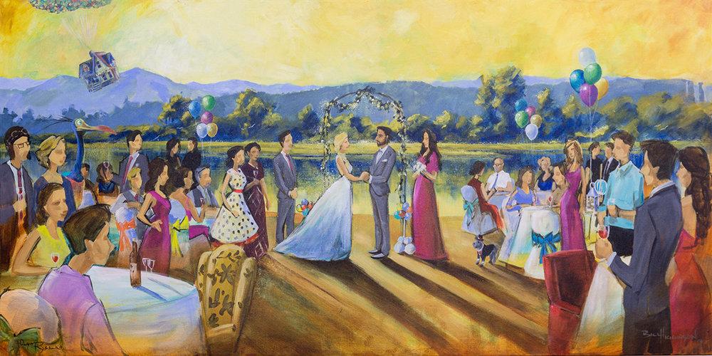 Impressions Live Art - Wedding painting - zac and vee - burnaby rowing club.jpg