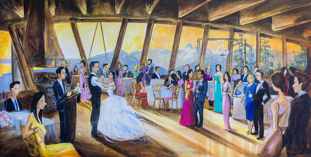 grouse mountain wedding reception first dance