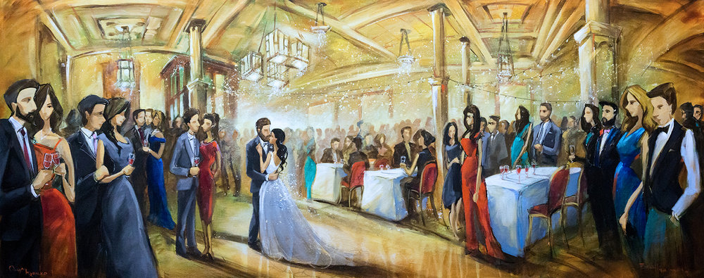 heritage hall traditional live wedding painting