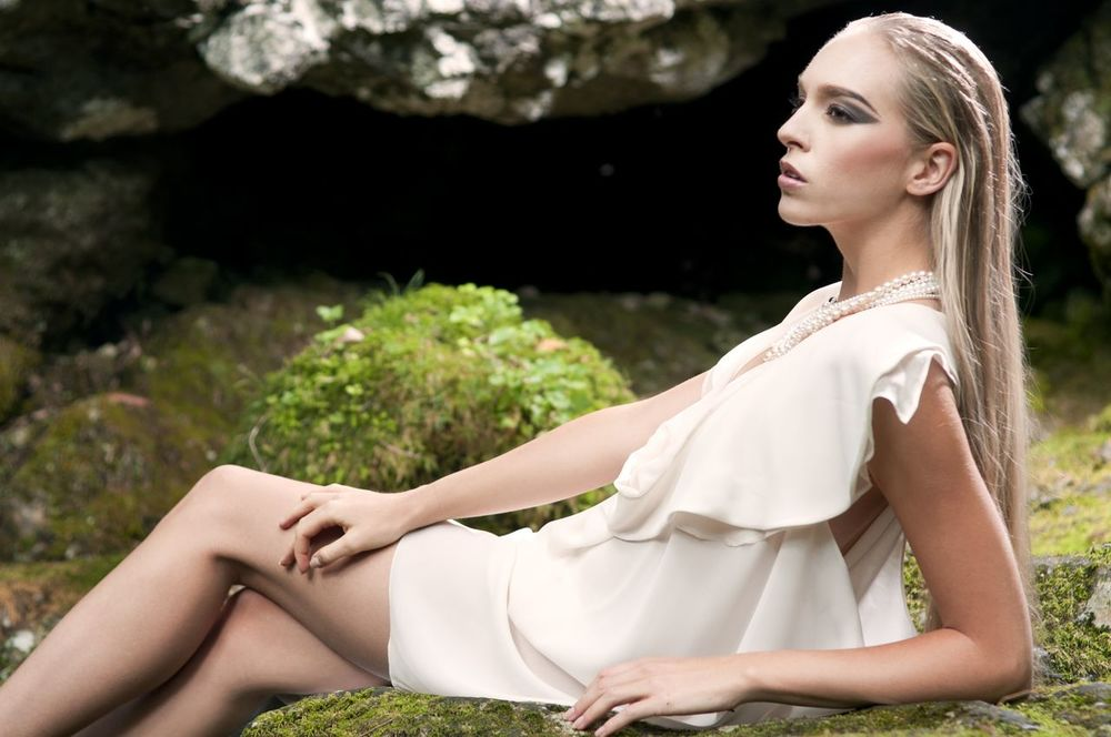 Isabel Wong Spring Summer Campaign Affinity Dress in Rose White Georgette