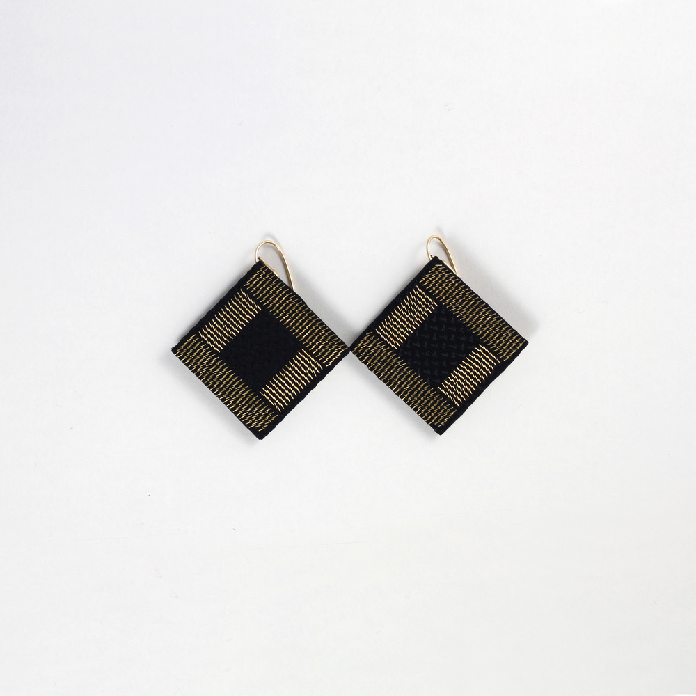 Drop-Down-Earrings-Black-Silk-Gold-Metal-CPU-Isabel-Wong.JPG