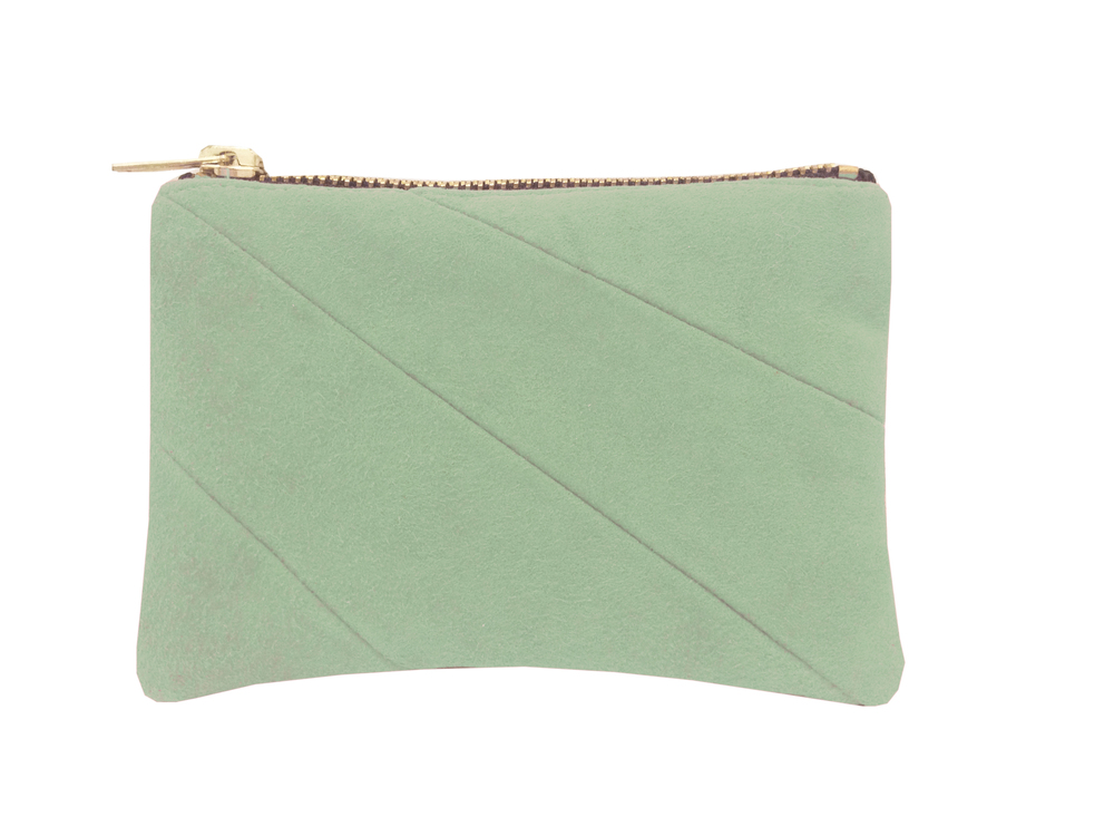 Isabel Wong Eggshell Blue Lamb Nappa Leather Panelled Pouch Purse with Gold Metal Zip.jpg