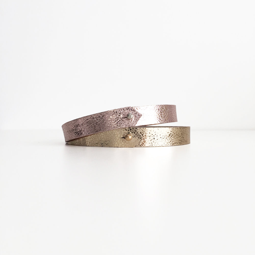 Duo Omega Collection Gold and pink copper choker with brass stud COPY.jpg