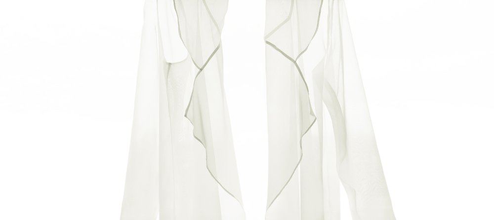 Isabel Wong Translucent Sheer White Organza Jacket.JPG