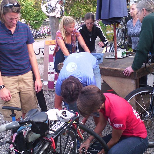 Next Women*s Bicycle Maintenance Workshop is on Tuesday, March 19th from 6pm to 8pm. Come give your bicycle some love before Spring hits! 🚲💕🌞🌻🌱🌧Free Cycles leads this monthly workshop to help women become more confident when working on their bicycle. Bring your bike, your questions, food and/or drink to share and enjoy the camaraderie of other women interested in being more independent with their bikes. Please feel free to stop by anytime between 6pm-8pm, if you can't make it at 6pm, it's no problem!  Free admissions, yet donations are appreciated. *People who are transgender or outside the gender binary are welcome to join! Free Cycles can provide bicycles for people to work on if needed. This is a great hands-on workshop to learn and practice repair skills on your bicycle.  Hope to see new and returning faces! Please feel free to come learn, help out, or hang out. Also, any feedback or ideas regarding these workshops is always helpful. Thank you!  Hosted with the help of Women Bike Missoula. Women Bike Missoula brings women together to make bicycling possible to more women and girls by sharing our knowledge, experiences, and the joy of biking.