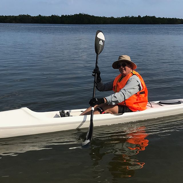 Cool memories captured with The Paddle Attic: Ron Cook paddles with the dolphins in his new Stellar 18S! #paddle #kayak #kayaking #kayakgram #dolphins #dolphin