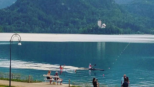 Our friend Mark Wilson teaching a rowing clinic with surf ski paddlers on Lake Bled in Croatia!🇭🇷 With one of our Stellar Surf Skis! 🚣‍♂️ • • • #CentralFloridaPaddleAttic #PaddleOrlando #Stellar  #Surfskis #Kayaks #OrlandoKayaking #KayakDealers #sport #water