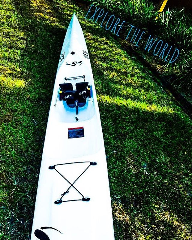 Explore the world in one of our white Stellar Surf skis! 🌎🚣‍♂️ • • • #surfski #kayak #centralflorida #water #sport #paddleboarding #stellar #orlando #stellar #explore #nature