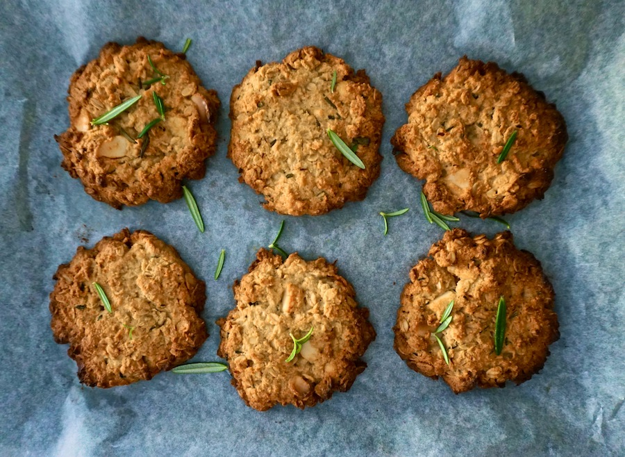 Rosemary, Macadamia and Lemon Anzac Biscuits | Healthy Treats | Sproutly Stories