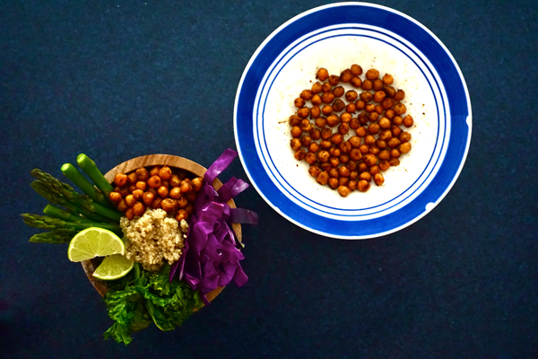Crispy Curried Chickpeas & Salad | Savoury Meals | Sproutly Stories