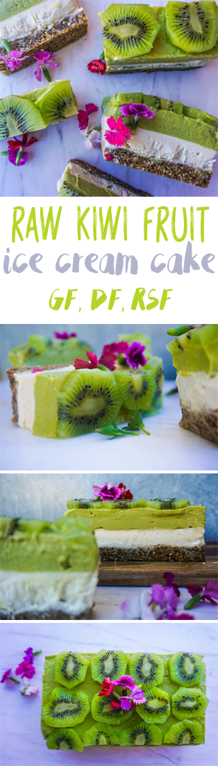 Raw Kiwi Ice Cream Cake | Sproutly Stories | Healthy Dessert Recipes