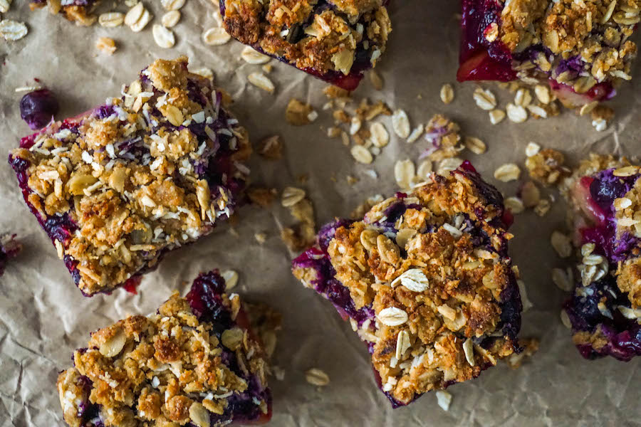 Pear Blueberry Crumble Bars | Sweet Treats | Sproutly Stories