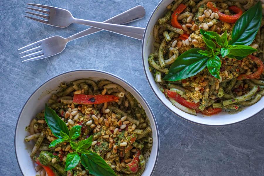 Green pea pesto pasta recipe