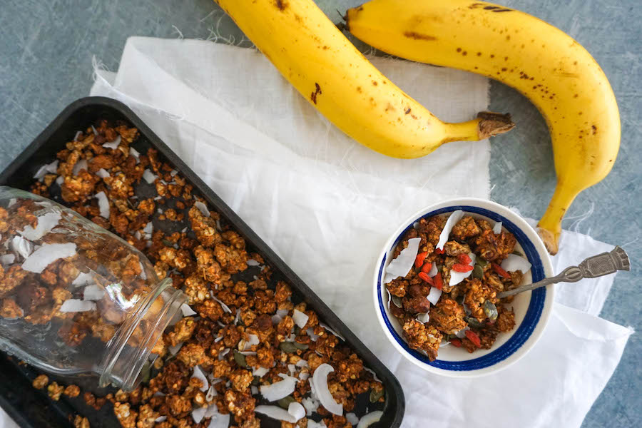Banana Bread Granola | Sweet Breakfast Recipes | Sproutly Stories