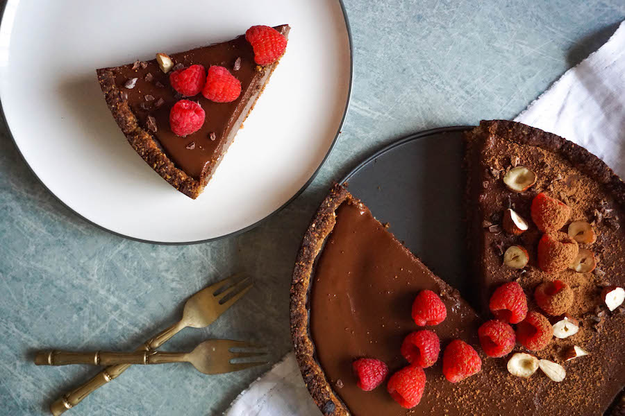 Chocolate Espresso Tart with Hazelnut Crust | Sweet Treats | Sproutly Stories