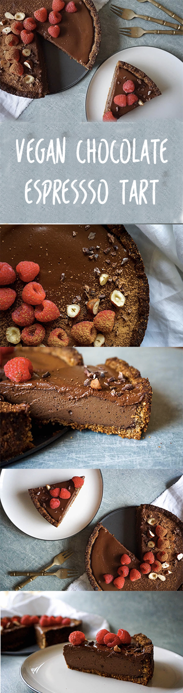 Chocolate Espresso Tart with Hazelnut Crust | Vegan Food | Sproutly ...