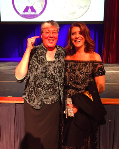 "SPARTA Pride, Winner of LGBT Award, Brenda S. (""Sue"") Fulton and Kate Walsh"