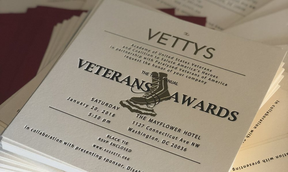 Active members receive two tickets to the 5th Annual Veterans Awards.