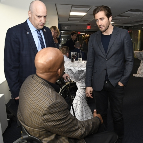 On September 18 2017, Jake Gyllenhaal and Jeff Bauman came to Washington DC for a special meet and greet with Paralyzed Veterans of America hosted by the Academy of United States Veterans. This very rewarding evening could not have been possible without the generosity of both Jake and Jeff offering their time and their stellar teams. Later in the evening, a screening of the movie Stronger followed by a Q&A was held for our nation's finest