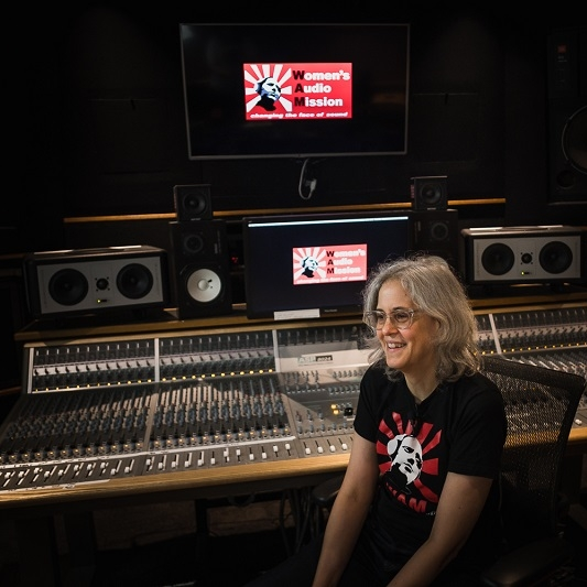 Women's Audio Mission    (pictured: Founder + Director Terri Winston)